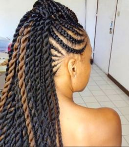 Goddess Braids Mohawk