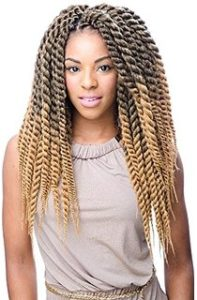 blond Senegalese Twists Braids