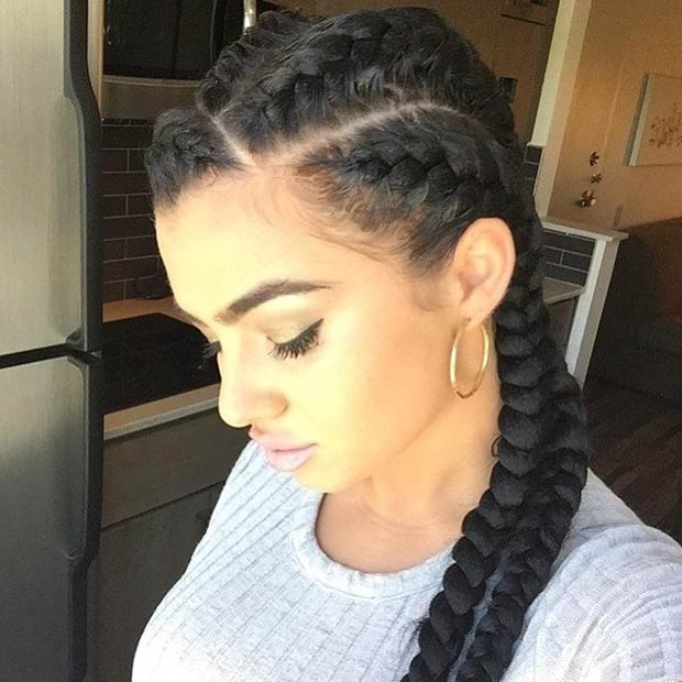 Admirable 40 Black Braided Hairstyles Hair Styles For Black Woman Hairstyle Inspiration Daily Dogsangcom