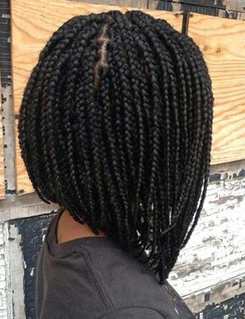 Braided Hair Black Women Back View