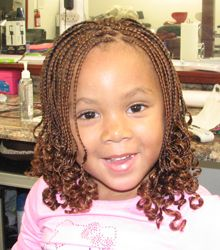 Braided Hair with Curly Ends
