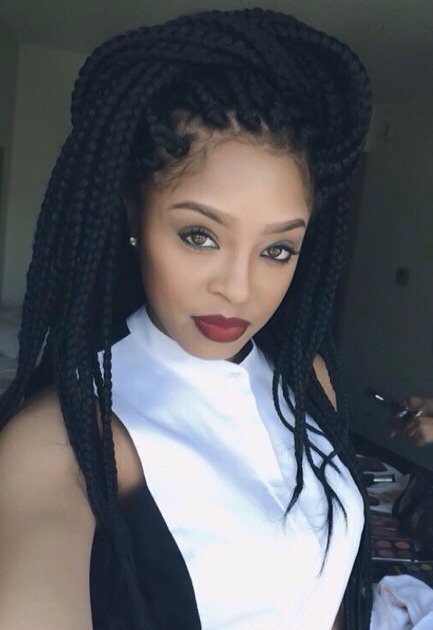 20 stunning box braids hairstyles box braids inspiration. Black Bedroom Furniture Sets. Home Design Ideas