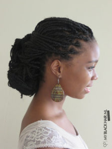 Low Bun Box Braids