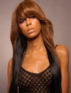 Two Tone Weave with Bangs
