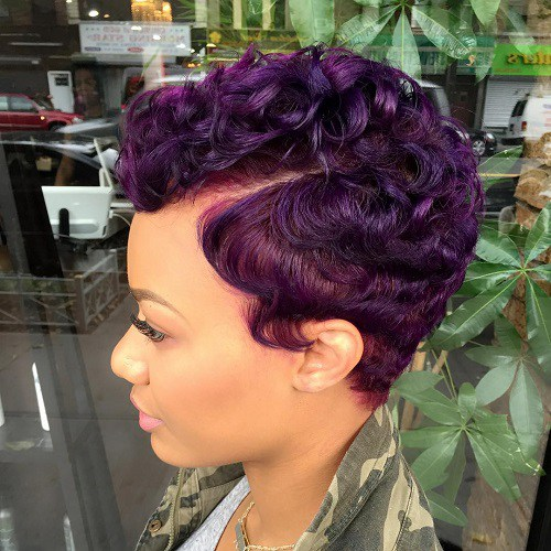 Continuing With The 90s Inspired Hair Dos We Have These Beautiful Purple Finger Waves If You Are A Woman Bold Personality Try Out This Style To