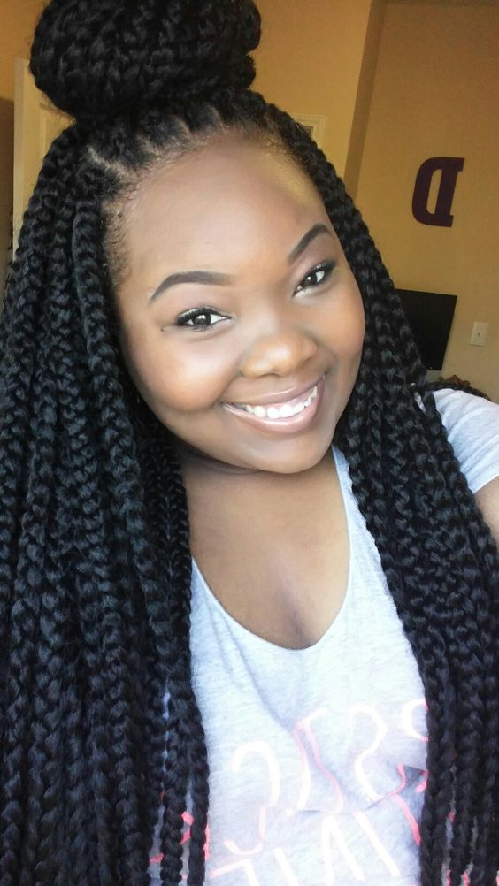 Crochet Box Braids Bun : Poetic justice braids have been a huge trend. If you cannot justify ...
