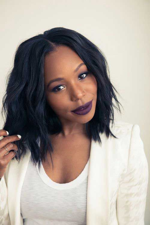 40 short hairstyle for black women 23light waves with middle part urmus Gallery