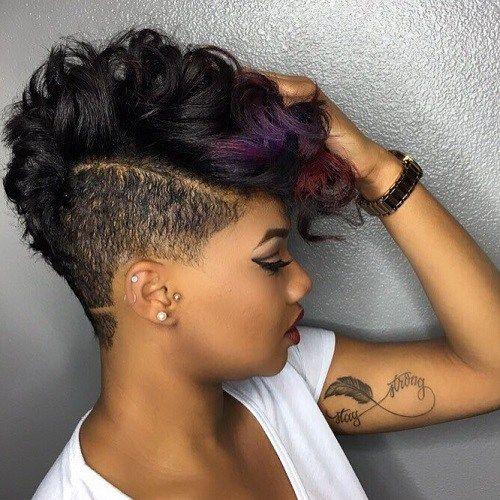 Fine 40 Mohawk Hairstyles For Black Women Hairstyles For Men Maxibearus