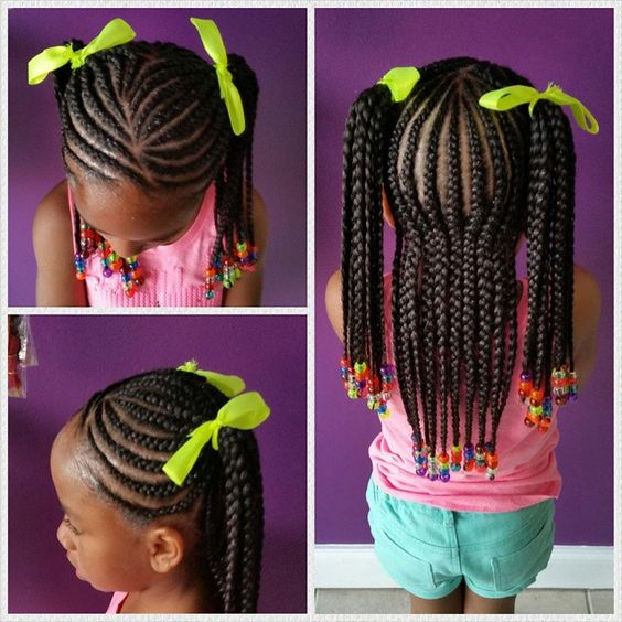 how to make two plaits for school
