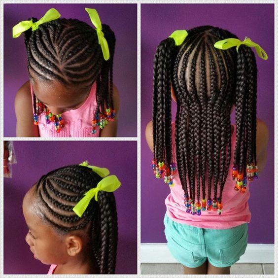 Incredible 40 Braids For Kids 40 Braid Styles For Girls Short Hairstyles For Black Women Fulllsitofus