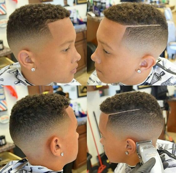 Fade haircut black kids