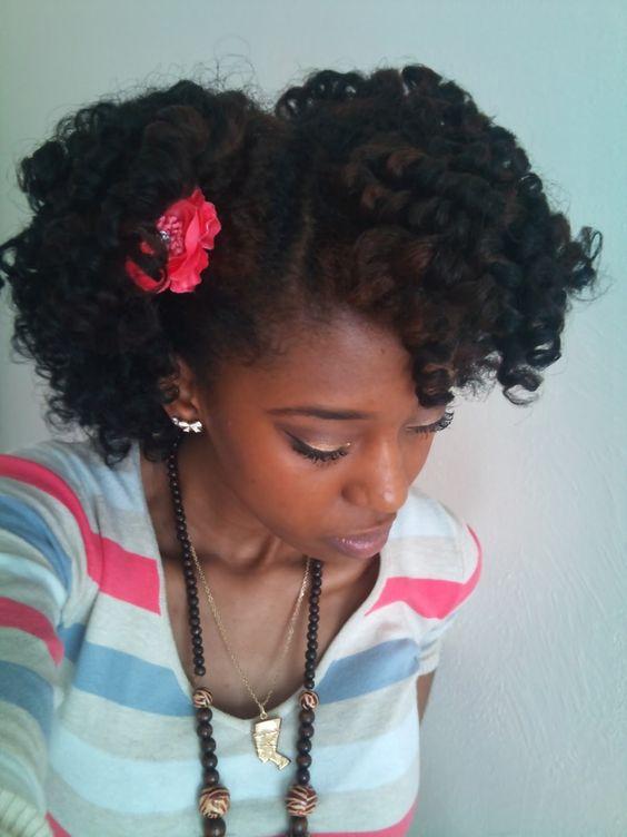 Curly hair style teen
