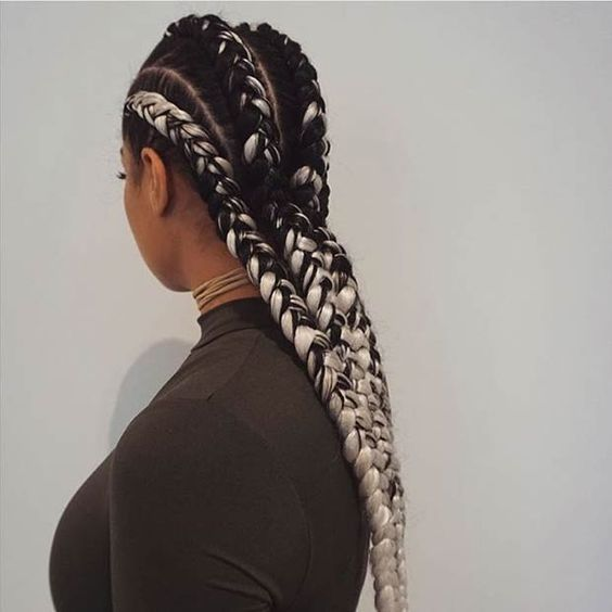 Image result for ombre long braids