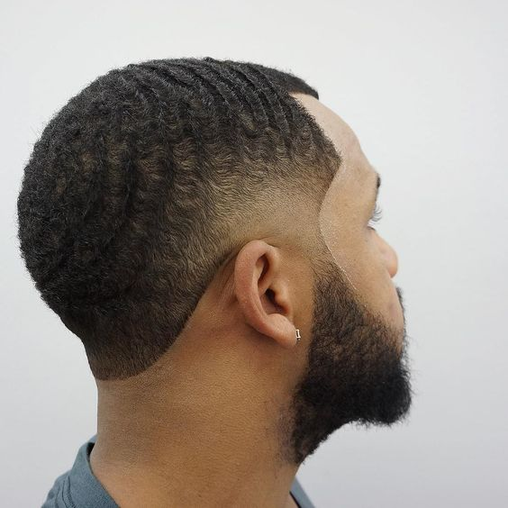 fade haircut with waves 25 cool temp fade styles for black 2256