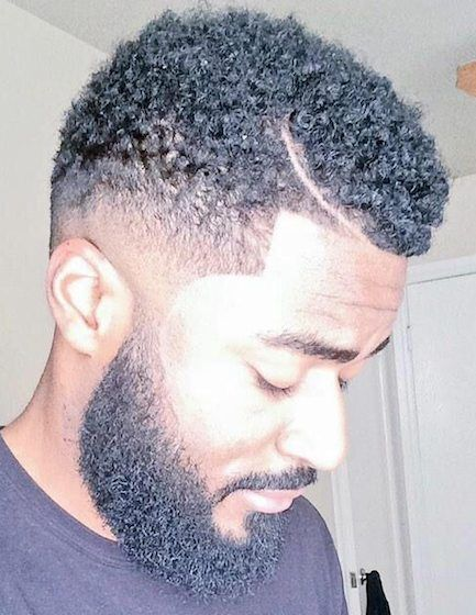 temp fade haircut with curls 25 cool temp fade styles for black 1760 | 19RazorLinewithTempleFade 1