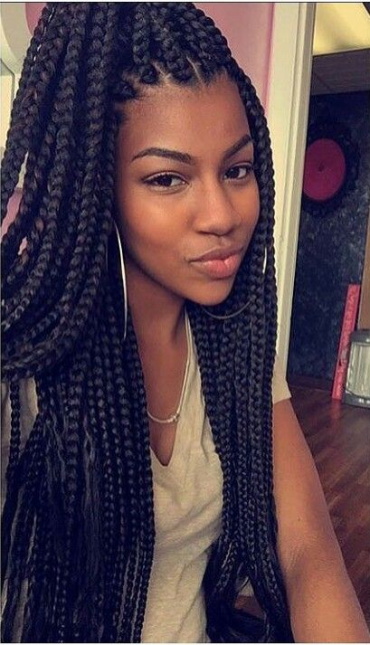 Purple Poetic Justice Braids 40 Goddess Braids Hair...