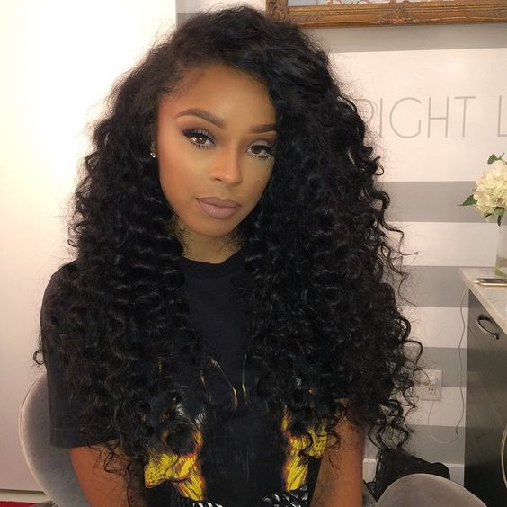 Kelly Rowland Inspired This Deep Wave Curly Hairstyle And You Are Sure To Enjoy Your Sew In Curls Try Style If Have Grown Tired Of Sleek Straight