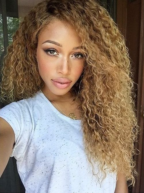 Chic and versatile sew in styles you should definitely try full or partial sew ins that simulate your natural hair texture are popular blonde tight and textured curls are versatile and realistic pmusecretfo Gallery