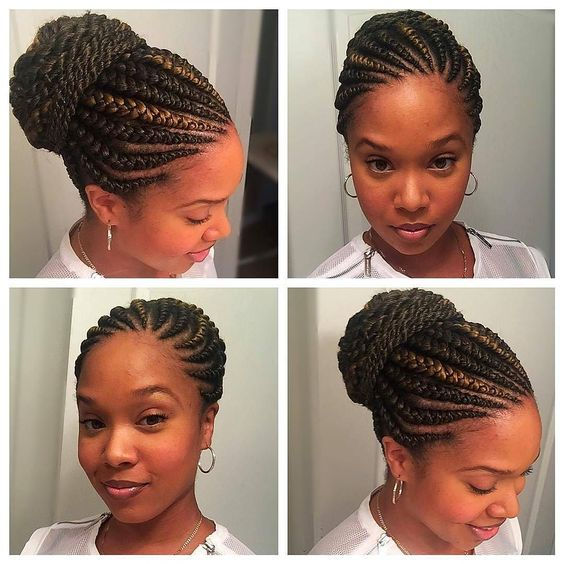 Hip Beautiful Ghana Braids Styles Banana