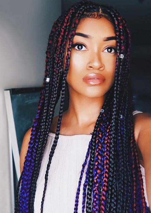 40 Stunning Medium Box Braids To Do Yourself!