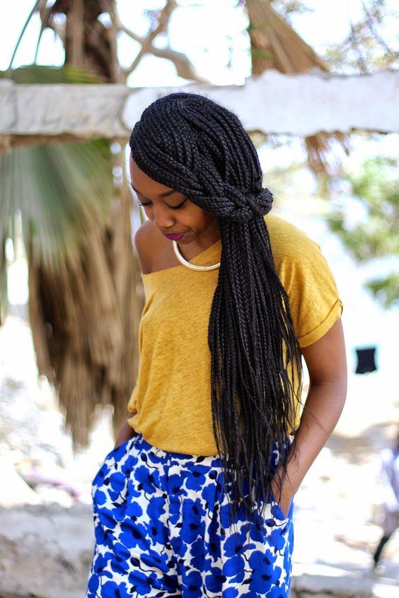 40 super chic senegalese twist styles we love 7simple half up do senegalese twists pmusecretfo Gallery