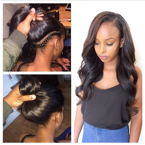 There are other methods which only use three hair sections or two, which can create different hairstyles using the Vixen Sew-In but the quadrant pattern is ...