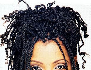 Half Up Kinky Twists