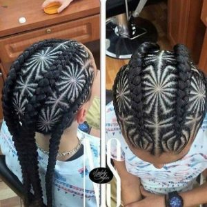 spiderweb cornrows