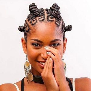Cornrows and bantu knots