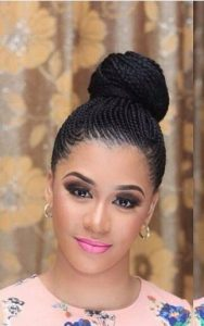 Micro Cornrows High Bun