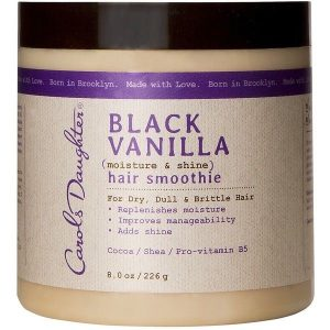 Black vanilla coarse hair