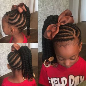 Cornrowed Side Ponytail