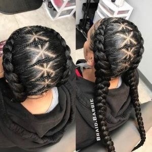 diamond feed in braids