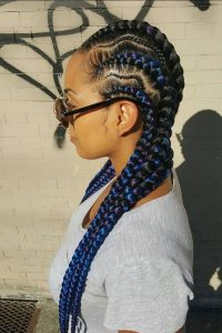 zig zag feed in braids