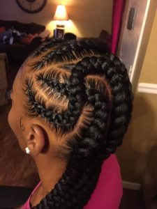 topsy turvy feed in braids
