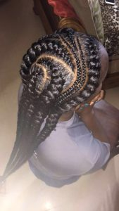 multi sized curved cornrows