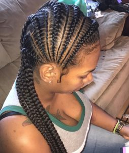 side feed in cornrows