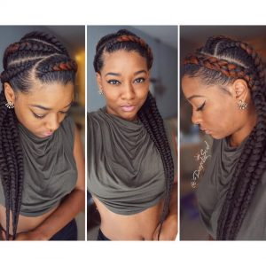 Feed In Braids Red