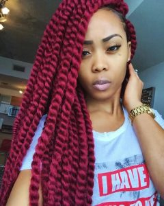 Red Crochet Twists
