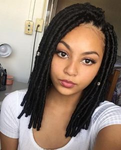 Shoulder Length Crochet Locs