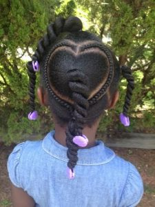 Chunky Twists With Cornrowed Heart
