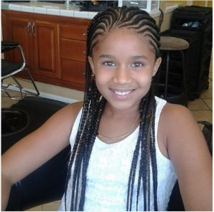 traight Back Cornrows With a Twist