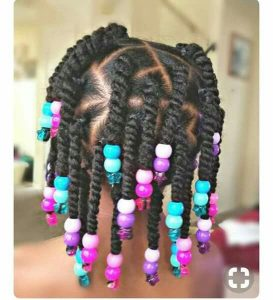 Two Strand Twists With Chunky Beads