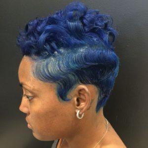 blue finger waves