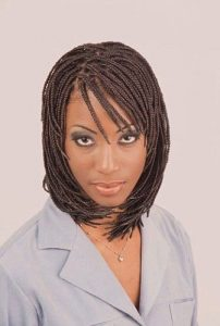 bob braids with bangs
