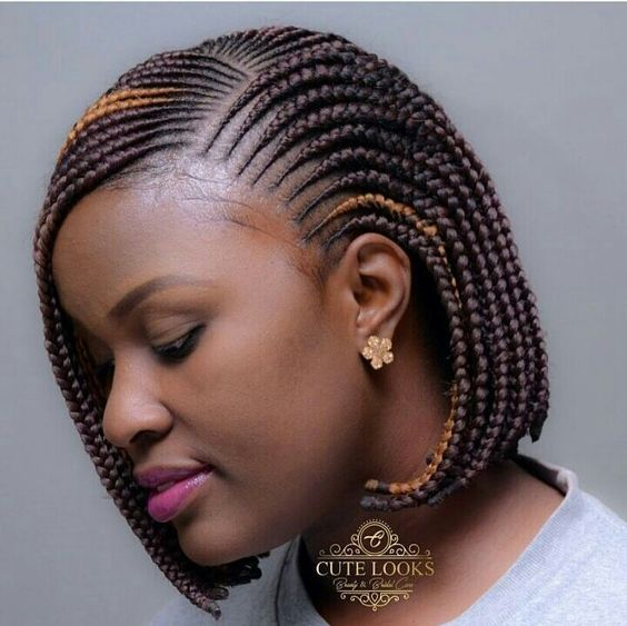 different african hair braiding styles bob braids 40 bob length braided hairstyles 2974 | bob length feed in braids