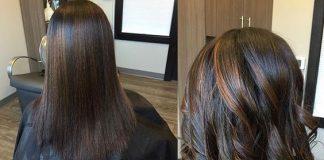 flat ironed natural hair
