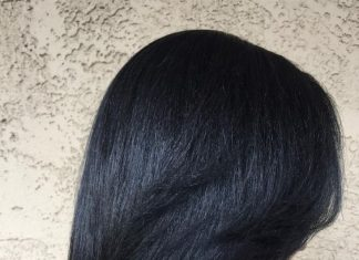 healthy relaxed hair