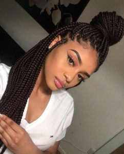 protective style relaxed hair
