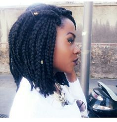 thick bob braids with beads